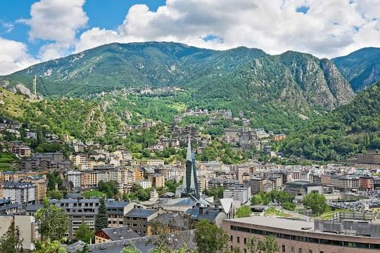 Landscape view of Andorra}