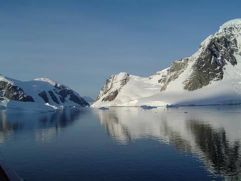 Landscape view of Antarctica