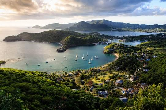 Landscape view of Antigua and Barbuda
