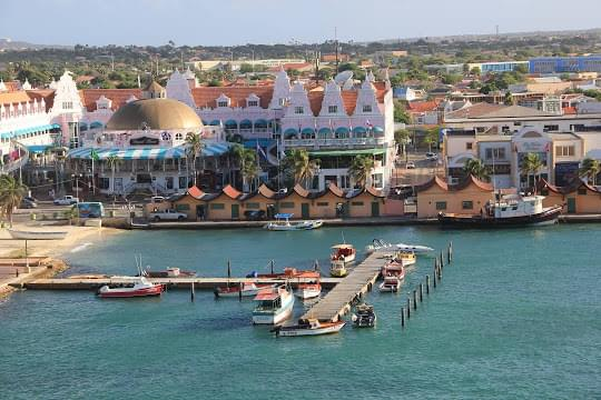 Landscape view of Aruba}