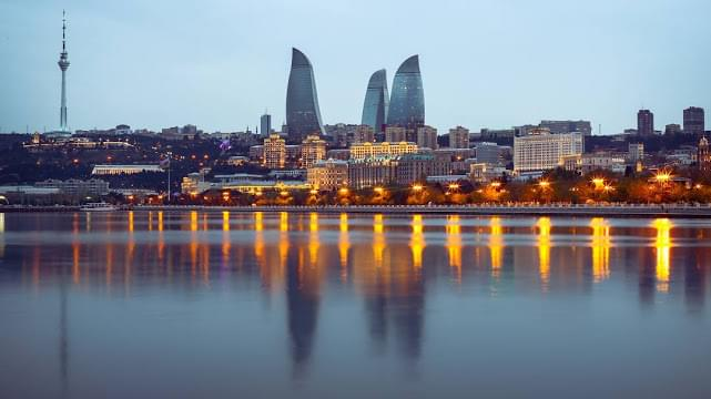 Landscape view of Azerbaijan}