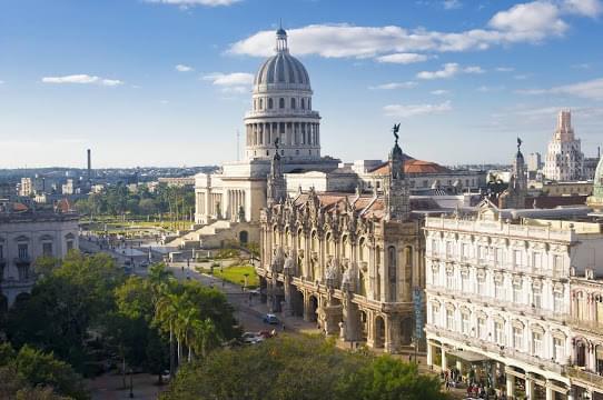 Landscape view of Cuba