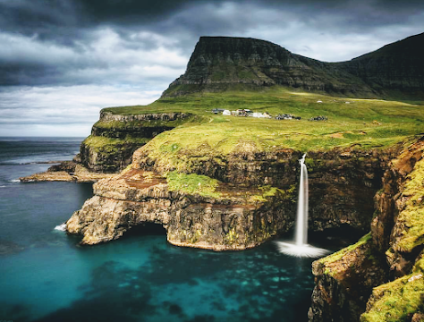 Landscape view of Faroe Islands}
