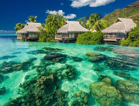 Landscape view of French Polynesia}