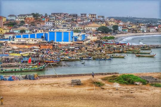 Landscape view of Ghana
