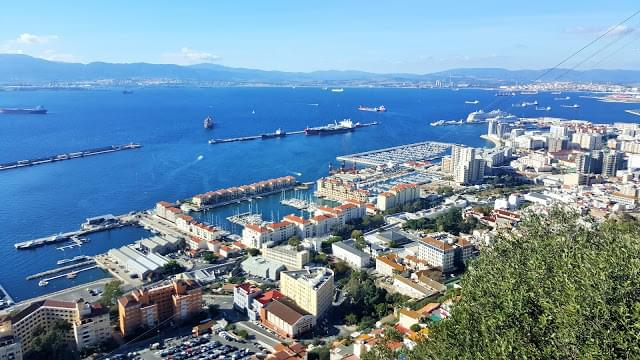 Landscape view of Gibraltar