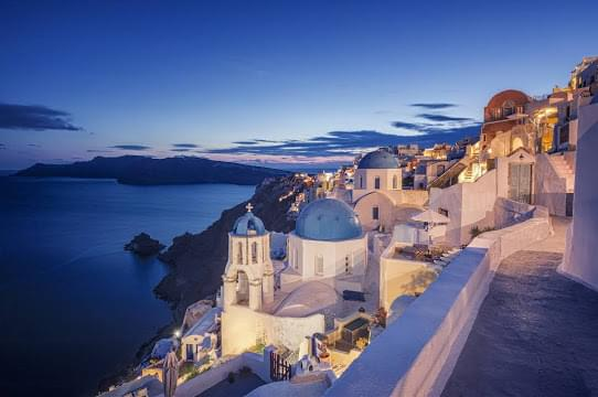 Landscape view of Greece}