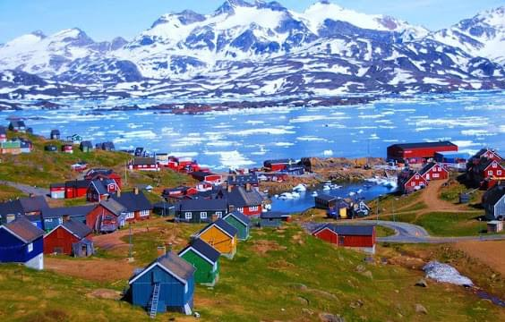 Landscape view of Greenland