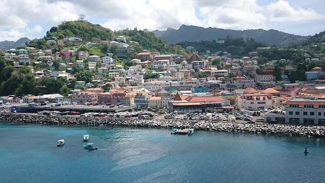 Landscape view of Grenada}