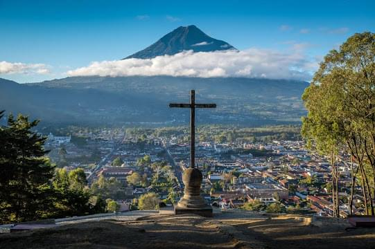 Landscape view of Guatemala}