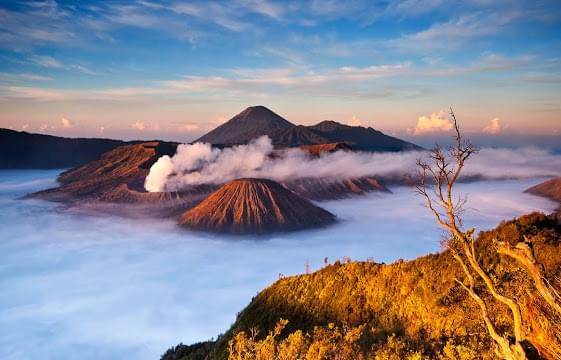 Landscape view of Indonesia