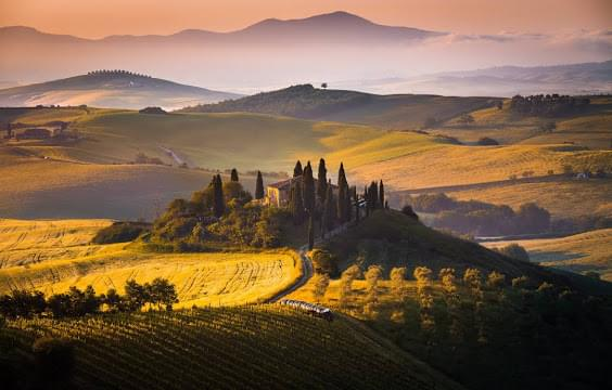 Landscape view of Italy}