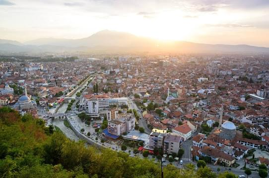 Landscape view of Kosovo}