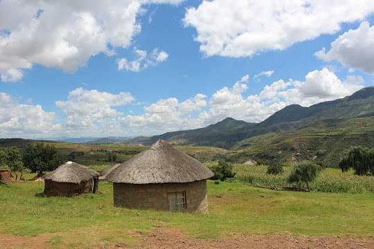 Landscape view of Lesotho