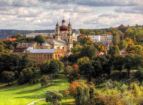 Landscape view of Lithuania}