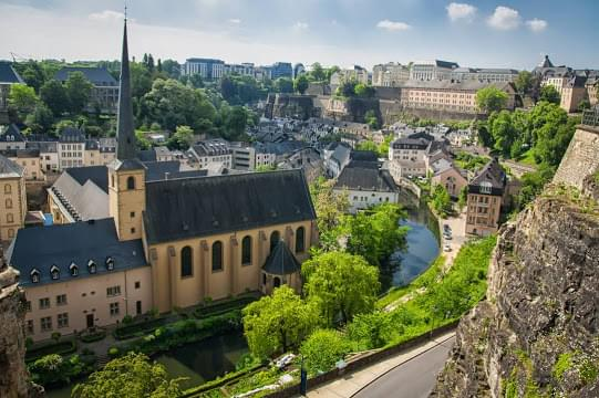 Landscape view of Luxembourg