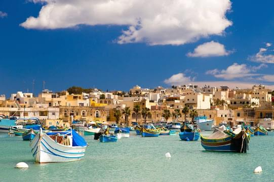 Landscape view of Malta}