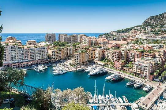 Landscape view of Monaco