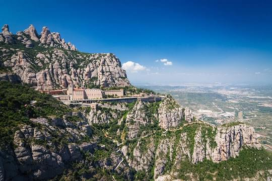 Landscape view of Montserrat}