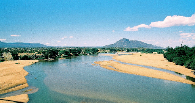 Landscape view of Mozambique}