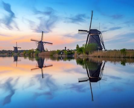 Landscape view of Netherlands}