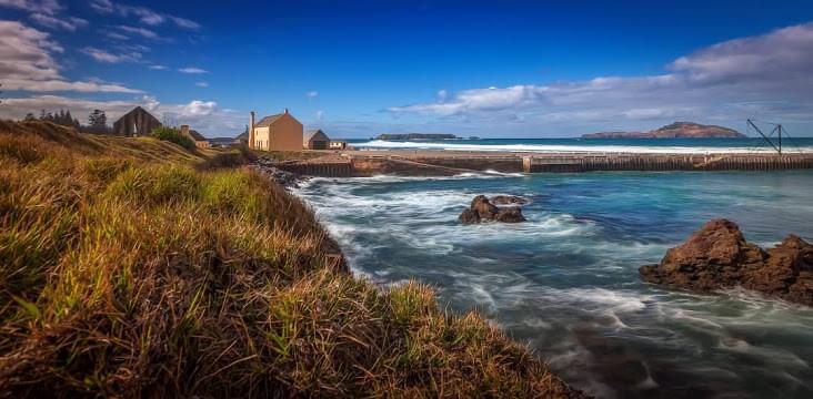 Landscape view of Norfolk Island}