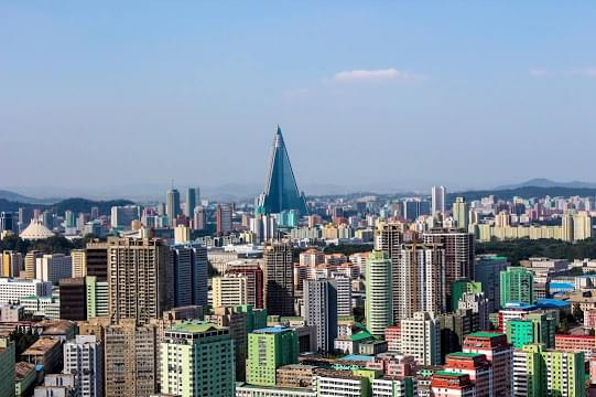 Landscape view of North Korea