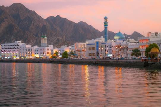 Landscape view of Oman}