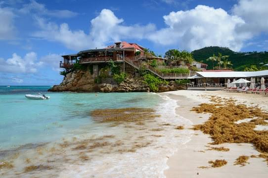 Landscape view of Saint Barthelemy