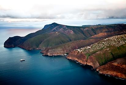 Landscape view of Saint Helena