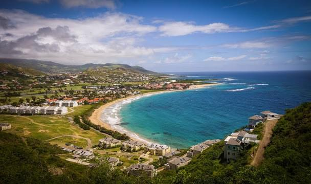 Landscape view of Saint Kitts and Nevis}