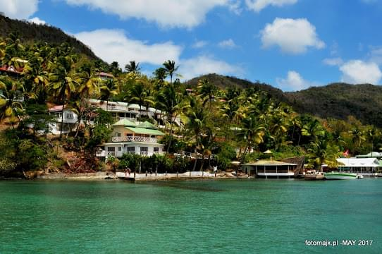 Landscape view of Saint Lucia