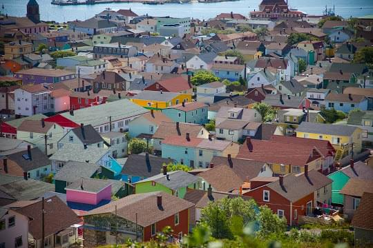 Landscape view of Saint Pierre and Miquelon}