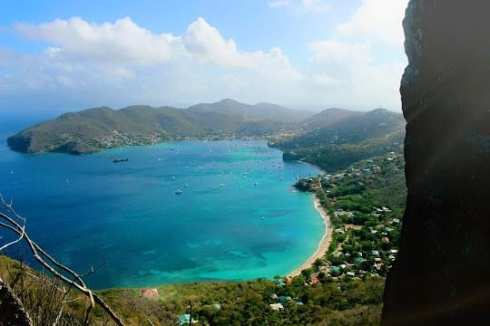 Landscape view of Saint Vincent and the Grenadines