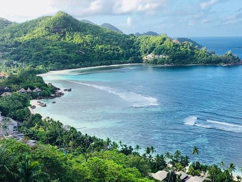 Landscape view of Seychelles}