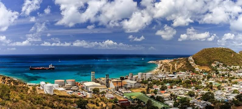 Landscape view of Sint Maarten