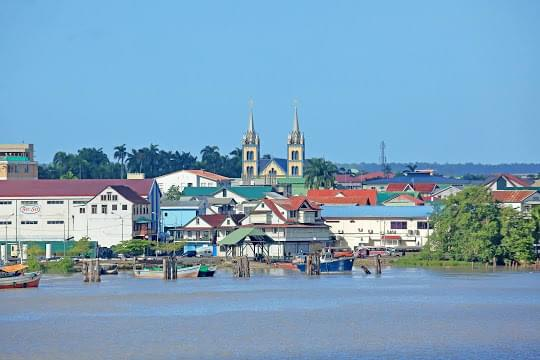 Landscape view of Suriname