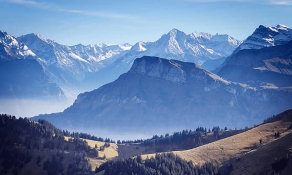Landscape view of Switzerland