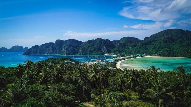 Landscape view of Thailand
