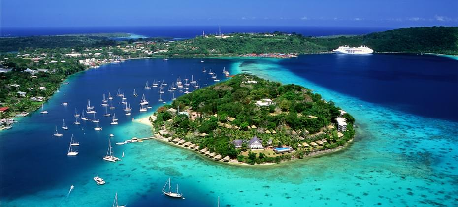 Landscape view of Vanuatu
