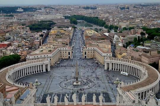 Landscape view of Vatican City}