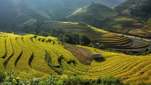 Landscape view of Vietnam