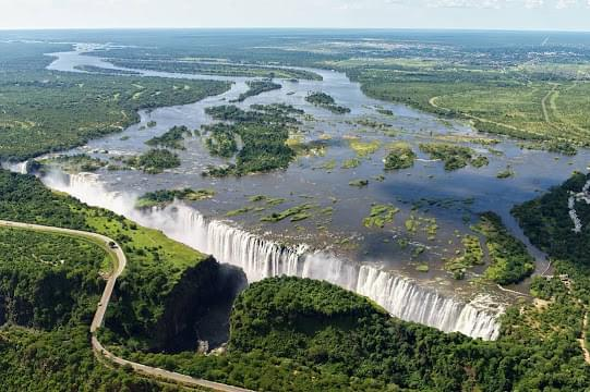 Landscape view of Zambia}
